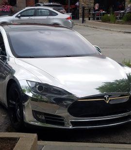 Silver Tesla S