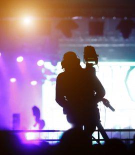 Cameraman at concert